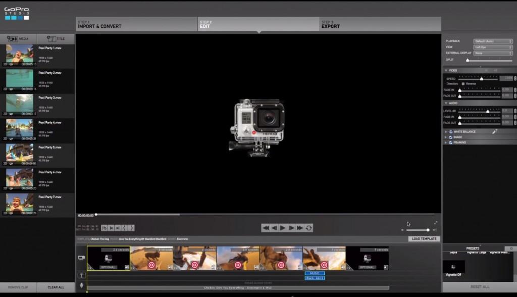 GoPro Studio Interface